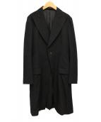 yohji yamamoto+Noir(ヨウジヤマモト プリュス ノアール)の古着「ウールギャバロングジャケット」|ブラック
