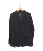 Y's YOHJI YAMAMOTO(ワイズ ヨウジヤマモト)の古着「切替デザインギャバウールジャケット」 ブラック