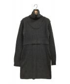 ETRE TOKYO(エトレトウキョウ)の古着「ニットワンピース」|チャコールグレー