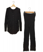 Ameri VINTAGE(アメリビンテージ)の古着「スナップボタンニットセットアップ」|ブラック