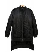 DIESEL BLACK GOLD(ディーゼルブラックゴールド)の古着「アスンメトリーヘムMAブルゾン」|ブラック