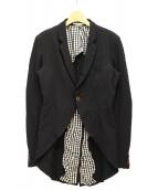 COMME des GARCONS HOMME PLUS(コムデギャルソンオムプリュス)の古着「燕尾テーラードジャケット」|ブラック
