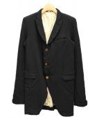 COMME des GARCONS HOMME PLUS(コムデギャルソンオムプリュス)の古着「製品染めポリ縮絨ジャケット」|ブラック