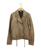 Ron Herman(ロンハーマン)の古着「レザーダブルライダースジャケット」|ブラウン
