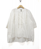 FRAPBOIS(フラボア)の古着「マッシュブラウス」|ホワイト