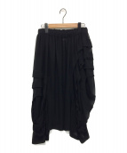 COMME des GARCONS COMME des GARCONS(コムデギャルソンコムデギャルソン)の古着「シアーデザインスカート」|ブラック