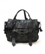 PROENZA SCHOULER(プロエンザ スクーラー)の古着「2WAYレザ-ショルダーバッグ」|ブラック