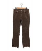 upper hights(アッパーハイツ)の古着「THE SHOE CORD カットオフコーデュロイパンツ」|ブラウン