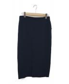 Plage(プラージュ)の古着「Double Clothタイトスカート」 ネイビー