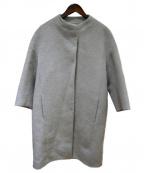 The SECRETCLOSET(ザシークレットクローゼット)の古着「アルパカ混ノーカラーコート」|グレー