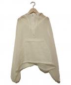 FILL THE BILL(フィルザビル)の古着「シースルーショートアノラック」|ホワイト