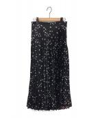 allureville(アルアバイル)の古着「フラインングバードプリーツスカート」|ブラック