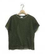 REKISAMI(レキサミ)の古着「メッシュ柄Tシャツ」|オリーブ