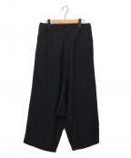 GROUND Y(グラウンドワイ)の古着「サルエルワイドパンツ」|ブラック