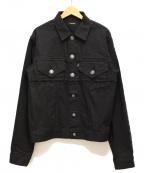 CHRISTIAN DADA(クリスチャンダダ)の古着「19SS Laser Print Denim jacket」 ブラック