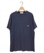 maison kitsune(メゾンキツネ)の古着「ポケットTシャツ」|ネイビー