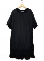 sacai luck(サカイ ラック)の古着「ワンピース」 ブラック