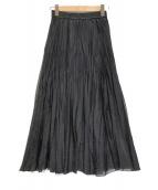 ()の古着「【洗える】シアープリーツスカート」|ブラック