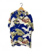 Sun Surf(サンサーフ)の古着「アロハシャツ」|ネイビー