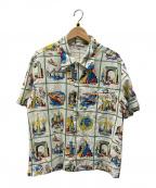 LEVI'S VINTAGE CLOTHING(リーバイスヴィンテージクロージング)の古着「1930's Gayway Souvenir Shirt/総」 アイボリー