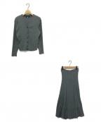 JUSGLITTY(ジャスグリッティー)の古着「リブカーデ&スカートセットアップ」|グレー