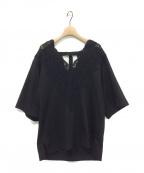 INSCRIRE(アンスクリア)の古着「レースTシャツ」|ブラック