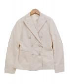 RING JACKET(リングジャケット)の古着「サッカー ダブル ジャケット」|アイボリー