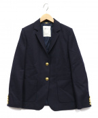 Lisiere(リジェール)の古着「ウールテーラードジャケット」|ネイビー