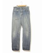 LEVIS(リーバイス)の古着「[古着]スタッズリメイクヴィンテージデニムパンツ」|ブルー
