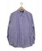 ()の古着「ストライプシャツ」|ホワイト×ブルー