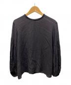 Plage(プラージュ)の古着「ツイストボイルバルーンスリーブブラウス」|ブラック