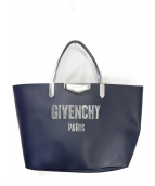 GIVENCHY(ジバンシィ)の古着「バブルロゴトートバッグ」|ネイビー