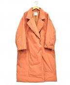 CLANE(クラネ)の古着「カラーダウンチェスターコート」 ピンク