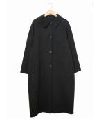 JIL SANDER(ジルサンダー)の古着「オーバーサイズアンゴラステンカラーコート」|ブラック