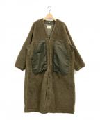 JUN MIKAMI(ジュン ミカミ)の古着「アルパカパイルライナーコート」 ブラウン