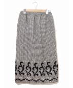 COMME des GARCONS(コムデギャルソン)の古着「[OLD]ヘムパッチデザイン千鳥ロングスカート」