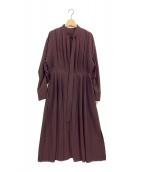 LE CIEL BLEU(ルシェルブルー)の古着「グラデーションプリーツオーバードレス」 パープル