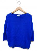 CABAN(キャバン)の古着「ワイドニット」 ブルー