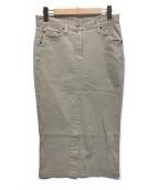()の古着「製品染めタイトスカート」|ベージュ