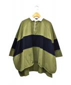 COGTHEBIGSMOKE(コグザビッグスモーク)の古着「ラガーシャツ」|オリーブ