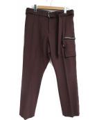 LIBERUM(リベルム)の古着「3Dポケットスラックス」|ワインレッド