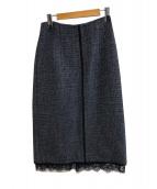 Chere IENA(シエールイエナ)の古着「LINTONツイードスカート」|ブラック