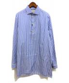 ()の古着「19SS プルオーバービッグシャツ」|ブルー×ホワイト