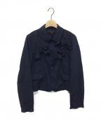 COMME des GARCONS GIRL(コムデギャルソン ガール)の古着「リボンジャケット」|ネイビー
