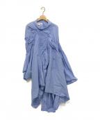 JUNYA WATANABE COMME des GARCON(ジュンヤワタナベ コムデギャルソン)の古着「変形デザインシャツワンピース」|ライトブルー