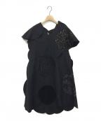 JUNYA WATANABE COMME des GARCON(ジュンヤワタナベ コムデギャルソン)の古着「スパンコールデザインワンピース」|ブラック