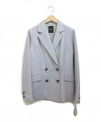 DAMA collection(ダーマコレクション)の古着「ラムレザーダブルブレストジャケット」 ブルー
