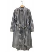 Lois CRAYON(ロイスクレヨン)の古着「ストライプシャツワンピース」|ネイビー