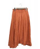 ()の古着「イレヘムシフォンスカート」 オレンジ