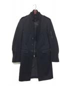 NEIL BARRETT(ニールバレット)の古着「レイヤードボンバーコート」 ブラック